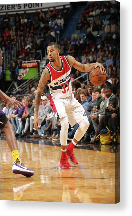 Smoothie King Center Acrylic Print featuring the photograph Trey Burke by Layne Murdoch