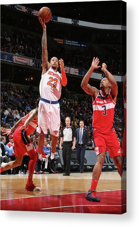 Nba Pro Basketball Acrylic Print featuring the photograph Trey Burke by Ned Dishman
