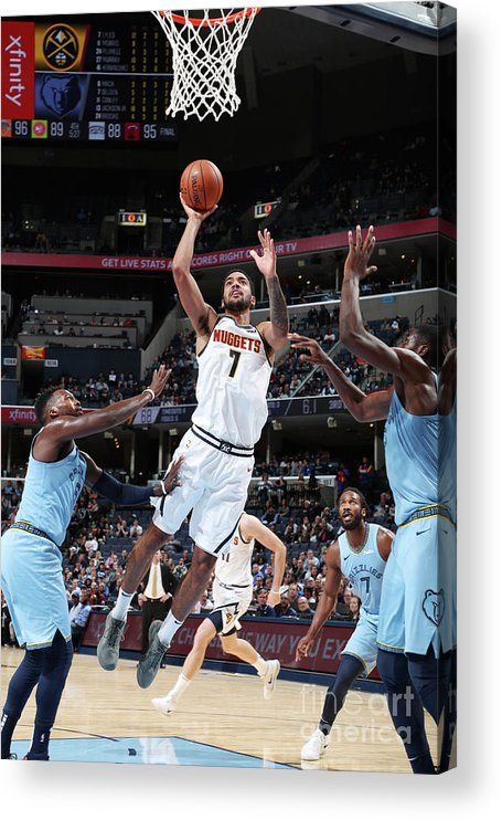 Nba Pro Basketball Acrylic Print featuring the photograph Trey Lyles by Joe Murphy