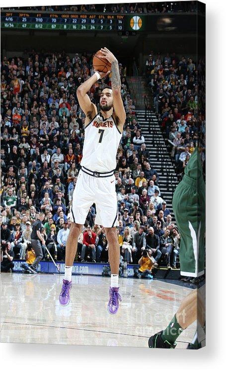 Nba Pro Basketball Acrylic Print featuring the photograph Trey Lyles by Melissa Majchrzak