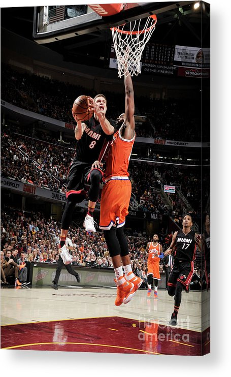 Nba Pro Basketball Acrylic Print featuring the photograph Tristan Thompson and Tyler Johnson by David Liam Kyle