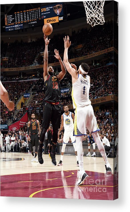 Playoffs Acrylic Print featuring the photograph Tristan Thompson by Andrew D. Bernstein