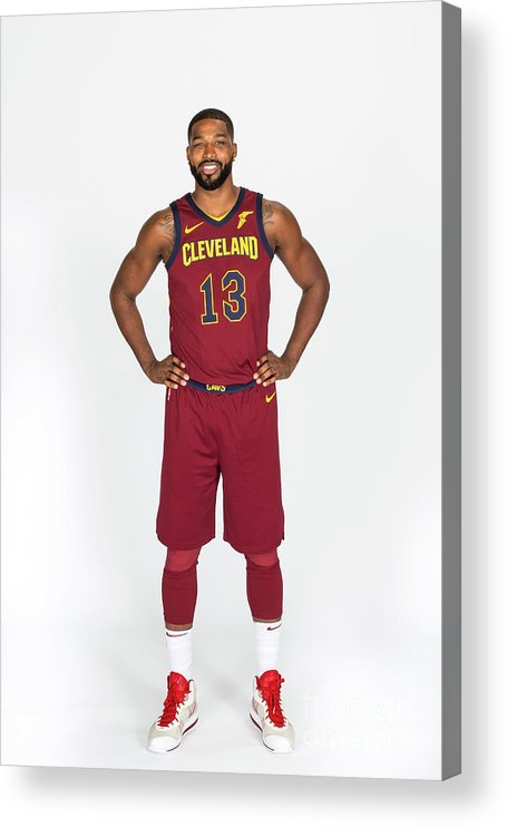 Media Day Acrylic Print featuring the photograph Tristan Thompson by Michael J. Lebrecht Ii