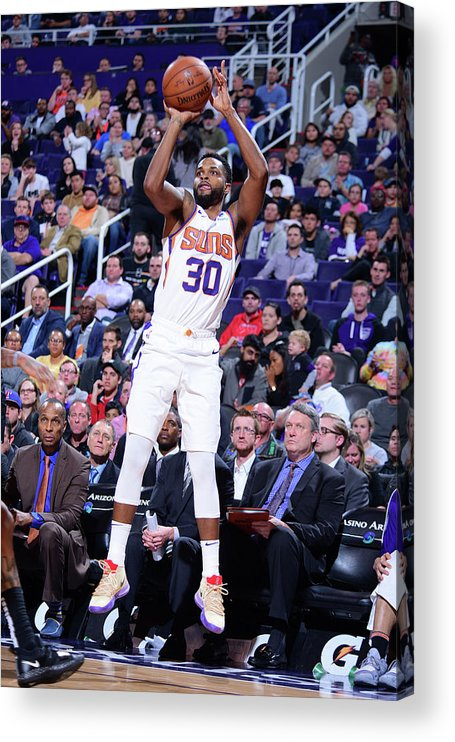 Nba Pro Basketball Acrylic Print featuring the photograph Troy Daniels by Michael Gonzales