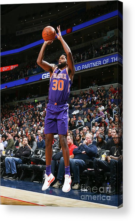 Nba Pro Basketball Acrylic Print featuring the photograph Troy Daniels by Ned Dishman
