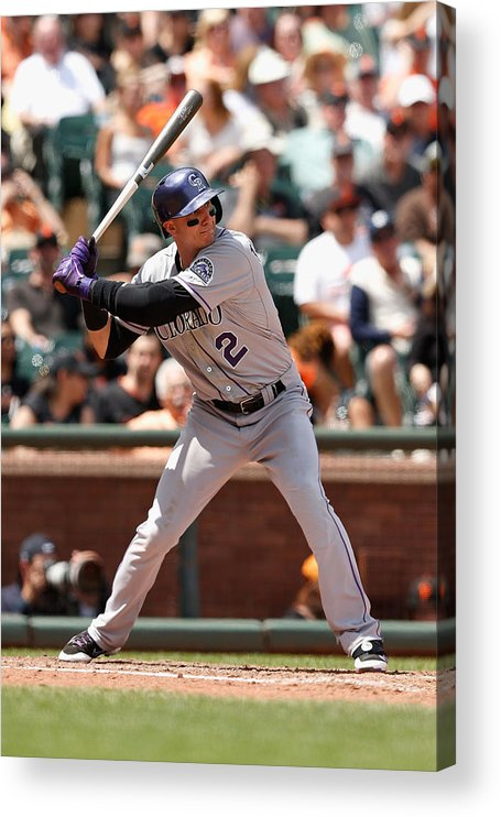 San Francisco Acrylic Print featuring the photograph Troy Tulowitzki by Lachlan Cunningham