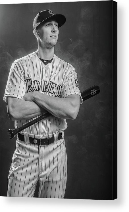 Media Day Acrylic Print featuring the photograph Troy Tulowitzki by Rob Tringali