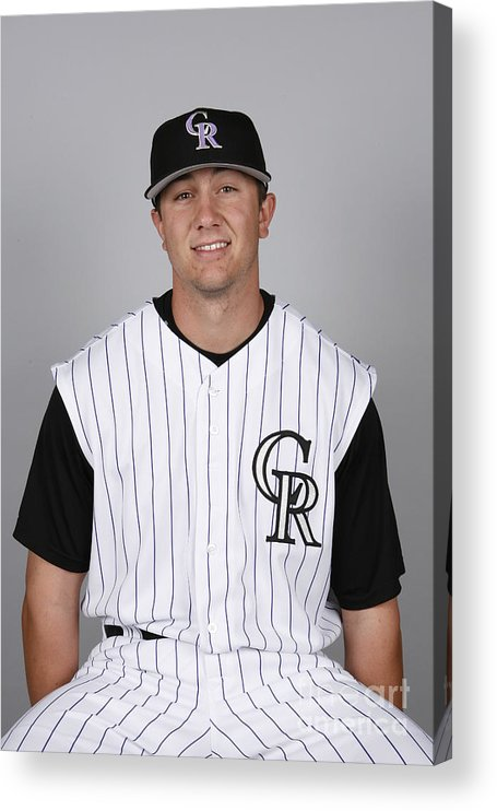 Media Day Acrylic Print featuring the photograph Troy Tulowitzki by Ron Vesely