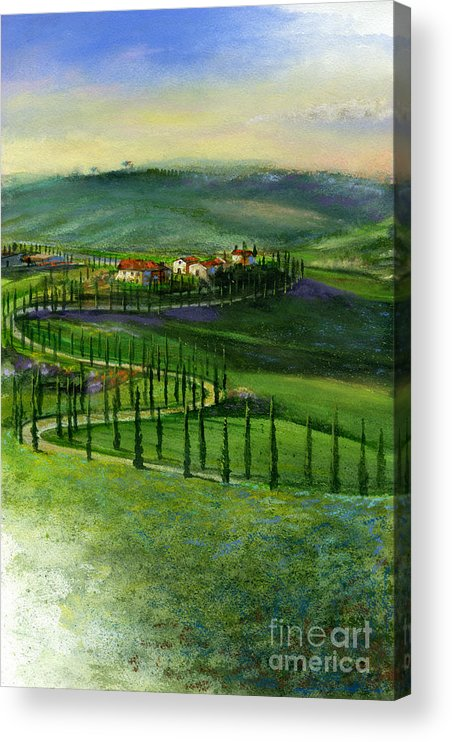 Landscape Acrylic Print featuring the painting Tuscan Countryside by Andrew King