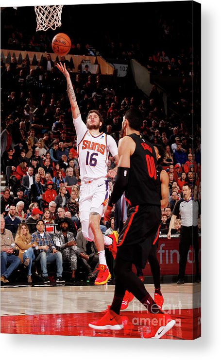 Nba Pro Basketball Acrylic Print featuring the photograph Tyler Johnson by Cameron Browne