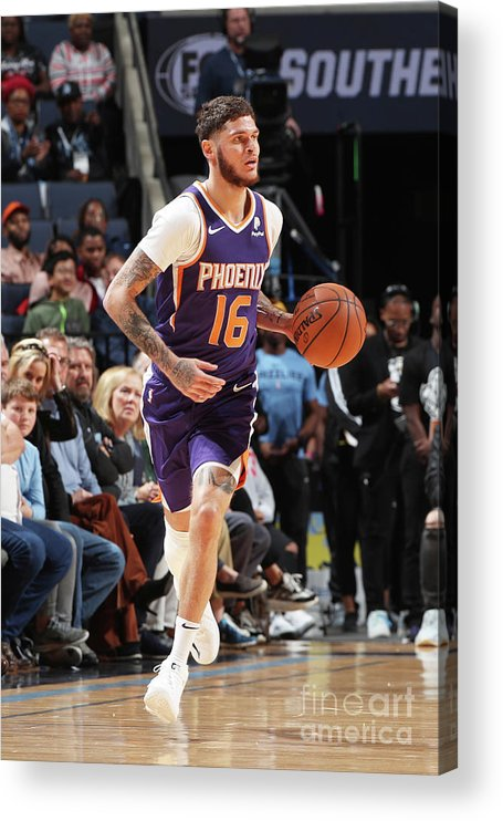 Nba Pro Basketball Acrylic Print featuring the photograph Tyler Johnson by Joe Murphy