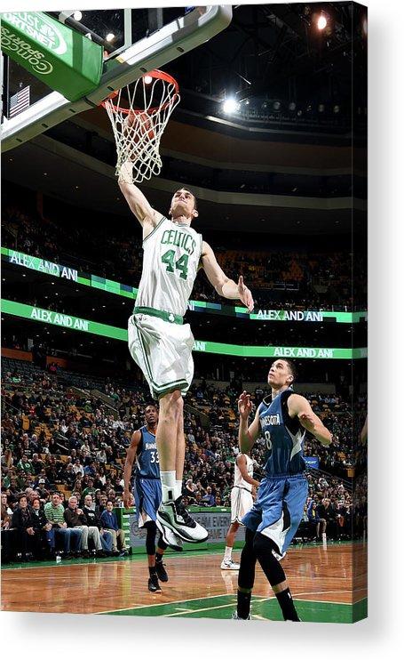 Nba Pro Basketball Acrylic Print featuring the photograph Tyler Zeller by Brian Babineau