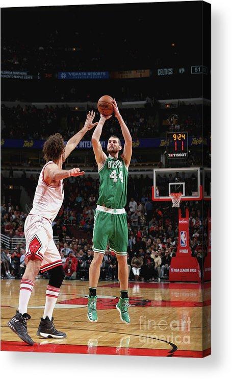 Nba Pro Basketball Acrylic Print featuring the photograph Tyler Zeller by Gary Dineen