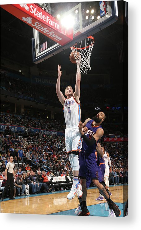 Nba Pro Basketball Acrylic Print featuring the photograph Tyson Chandler and Domantas Sabonis by Layne Murdoch