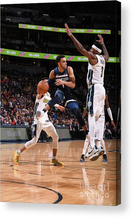 Nba Pro Basketball Acrylic Print featuring the photograph Tyus Jones by Bart Young