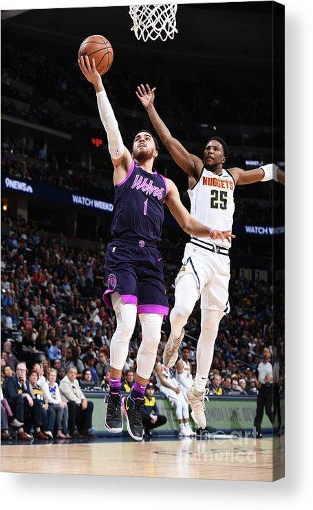 Nba Pro Basketball Acrylic Print featuring the photograph Tyus Jones by Garrett Ellwood