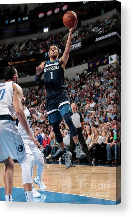 Nba Pro Basketball Acrylic Print featuring the photograph Tyus Jones by Glenn James