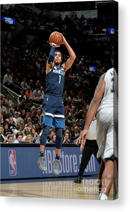 Nba Pro Basketball Acrylic Print featuring the photograph Tyus Jones by Mark Sobhani