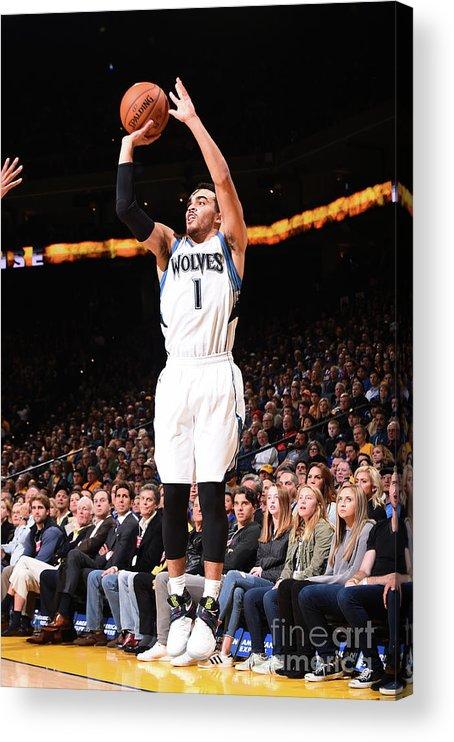 Nba Pro Basketball Acrylic Print featuring the photograph Tyus Jones by Noah Graham