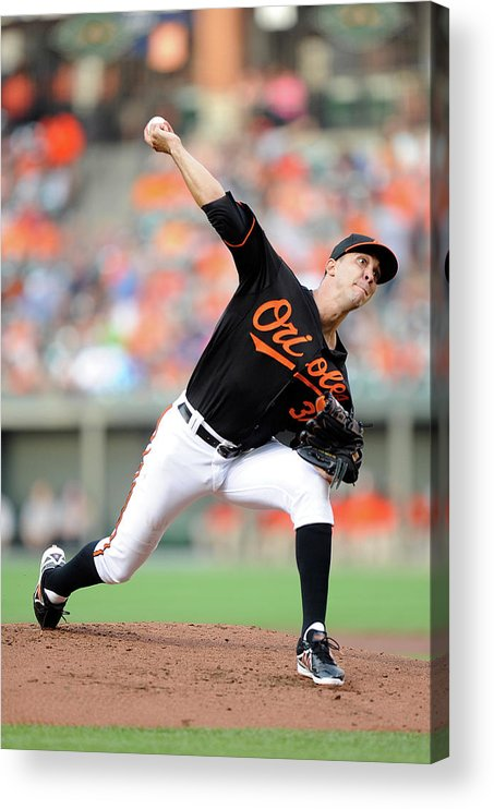 Second Inning Acrylic Print featuring the photograph Ubaldo Jimenez by Greg Fiume