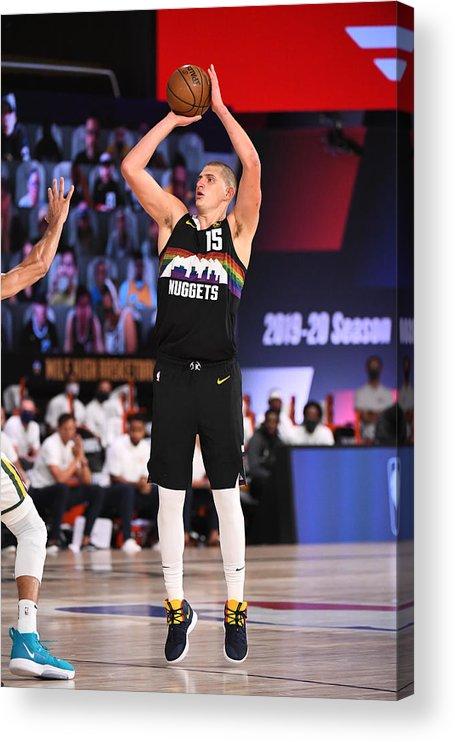 Playoffs Acrylic Print featuring the photograph Utah Jazz v Denver Nuggets - Game One by Garrett Ellwood