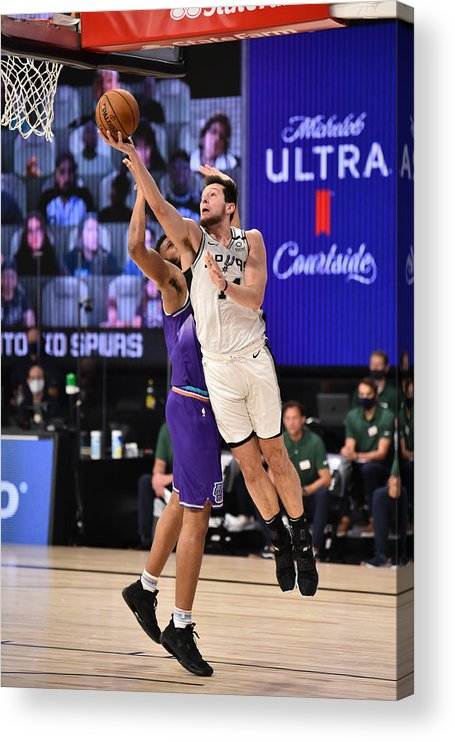 Nba Pro Basketball Acrylic Print featuring the photograph Utah Jazz v San Antonio Spurs by David Dow