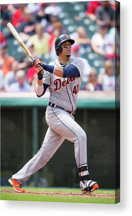 American League Baseball Acrylic Print featuring the photograph Victor Martinez by Jason Miller