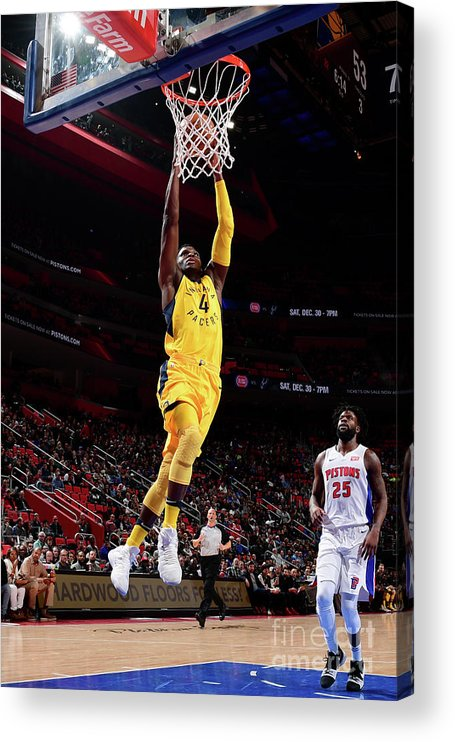 Nba Pro Basketball Acrylic Print featuring the photograph Victor Oladipo by Chris Schwegler