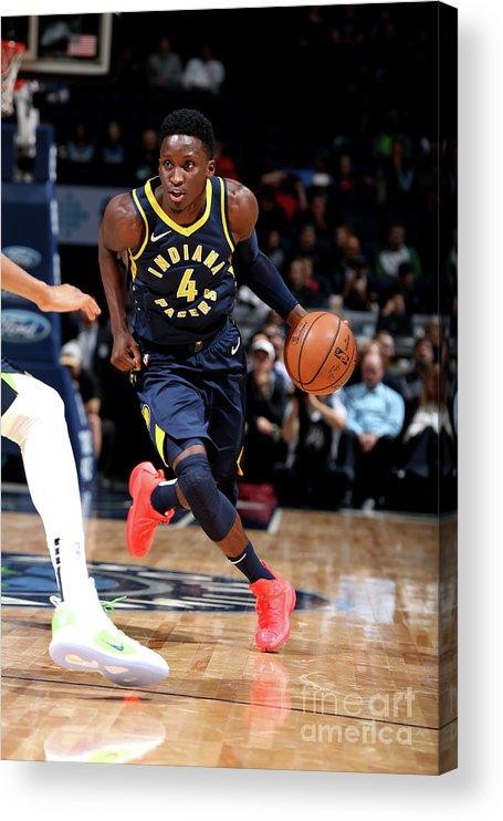 Nba Pro Basketball Acrylic Print featuring the photograph Victor Oladipo by David Sherman