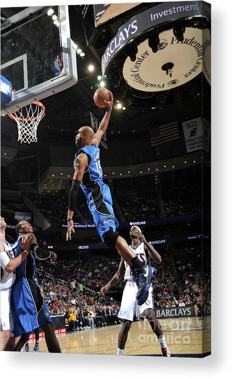 Nba Pro Basketball Acrylic Print featuring the photograph Vince Carter and Anthony Morrow by Jesse D. Garrabrant