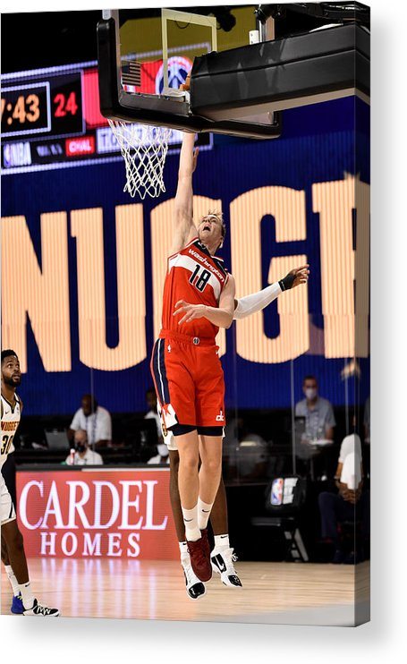 Nba Pro Basketball Acrylic Print featuring the photograph Washington Wizards v Denver Nuggets by David Dow