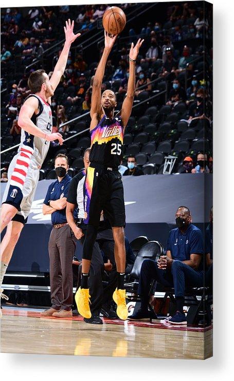 Nba Pro Basketball Acrylic Print featuring the photograph Washington Wizards v Phoenix Suns by Michael Gonzales