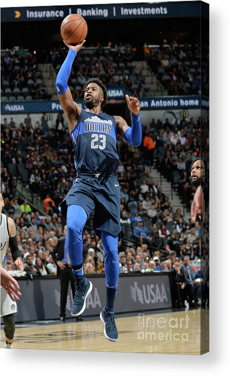 Nba Pro Basketball Acrylic Print featuring the photograph Wesley Matthews by Mark Sobhani