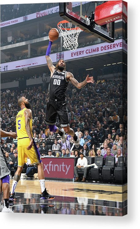 Nba Pro Basketball Acrylic Print featuring the photograph Willie Cauley-stein by Andrew D. Bernstein