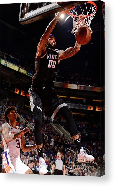 Nba Pro Basketball Acrylic Print featuring the photograph Willie Cauley-stein by Barry Gossage