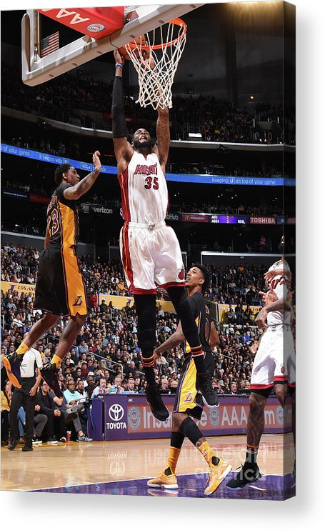 Nba Pro Basketball Acrylic Print featuring the photograph Willie Reed by Andrew D. Bernstein