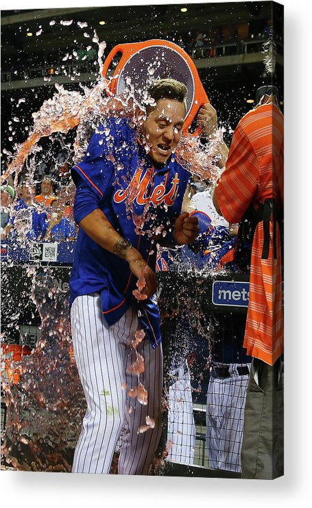 Three Quarter Length Acrylic Print featuring the photograph Wilmer Flores by Mike Stobe