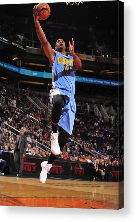 Nba Pro Basketball Acrylic Print featuring the photograph Wilson Chandler by Barry Gossage