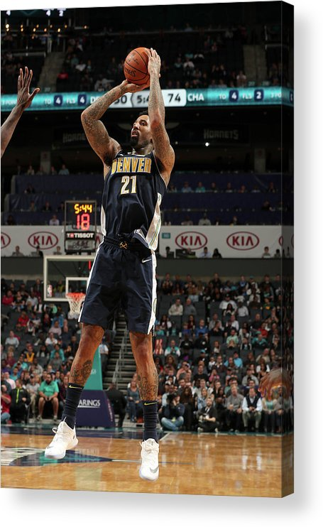 Nba Pro Basketball Acrylic Print featuring the photograph Wilson Chandler by Kent Smith