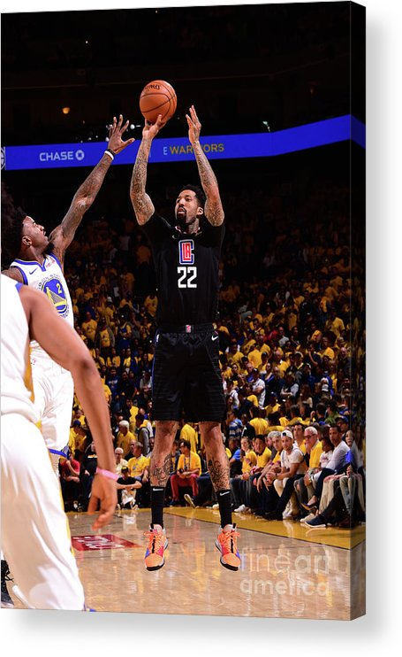 Playoffs Acrylic Print featuring the photograph Wilson Chandler by Noah Graham