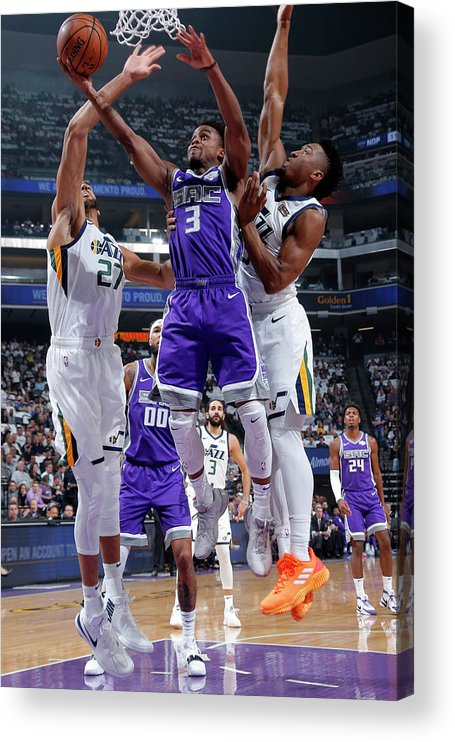 Nba Pro Basketball Acrylic Print featuring the photograph Yogi Ferrell by Rocky Widner
