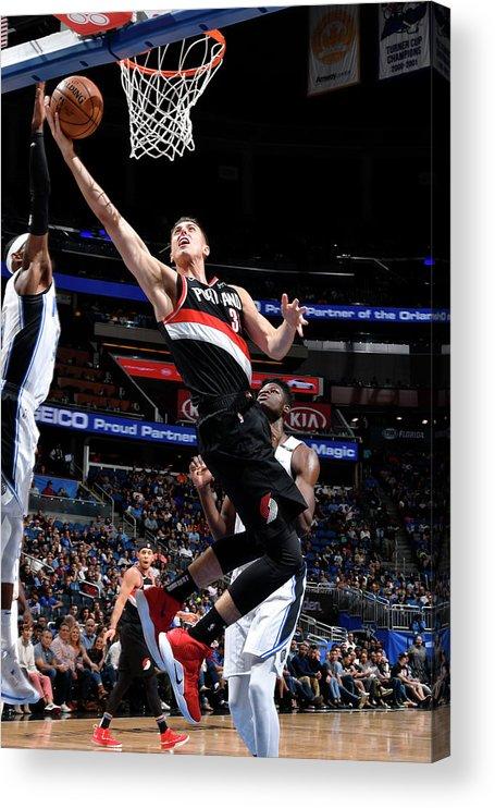 Nba Pro Basketball Acrylic Print featuring the photograph Zach Collins by Fernando Medina