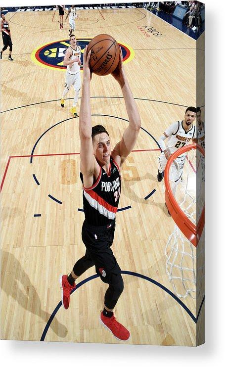 Playoffs Acrylic Print featuring the photograph Zach Collins by Garrett Ellwood
