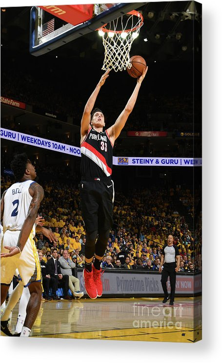 Playoffs Acrylic Print featuring the photograph Zach Collins by Noah Graham