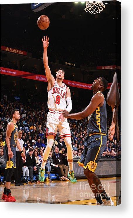 Chicago Bulls Acrylic Print featuring the photograph Zach Lavine by Noah Graham