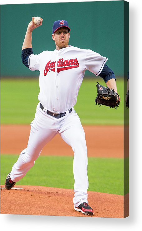 American League Baseball Acrylic Print featuring the photograph Zach Mcallister by Jason Miller