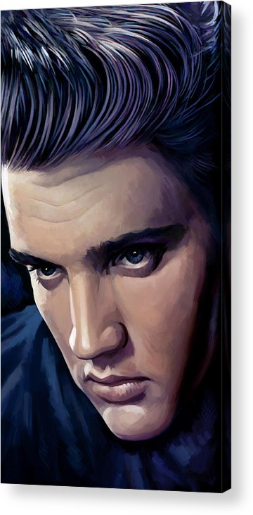 Elvis Presley Paintings Acrylic Print featuring the painting Elvis Presley Artwork 2 by Sheraz A