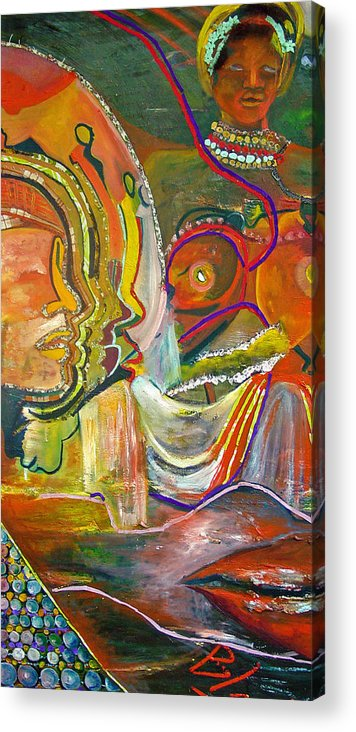 Impressionism Acrylic Print featuring the painting Koulikoro Woman by Peggy Blood