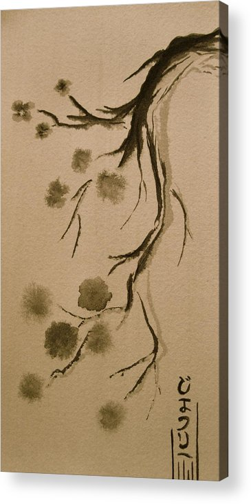 Japanese Acrylic Print featuring the painting Hang Down Your Head by Jeff DOttavio