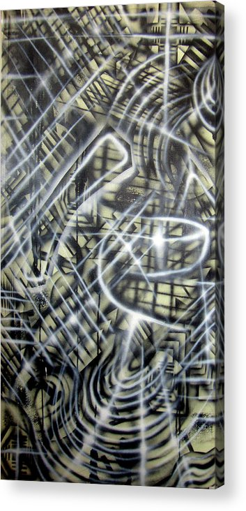 Translucent Acrylic Print featuring the painting New Layers 11 by Leigh Odom